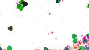 Utsmyckat dekorativt flöda för hjärta stock video