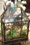 Utsmyckat glass växthus arkivbild