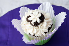 utsmyckat gourmet för muffin royaltyfri bild
