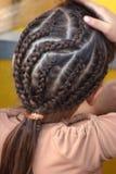 utsmyckat hår Royaltyfri Foto