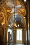 Utsmyckat hall i USA-Kapitolium arkivfoto