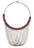 Utsmyckat halsbandbruntrep Stich royaltyfri foto
