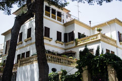 Utsmyckat hus i Palma av Majorca arkivbilder