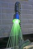 Utsmyckat iluminated klapp i kök royaltyfri foto