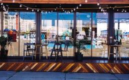 Utsmyckat kafé och restoran arkivbild
