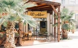 Utsmyckat kaf? och restoran royaltyfri fotografi