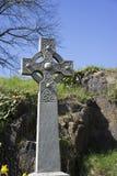 Utsmyckat keltiskt kors - Stirling, Skottland royaltyfria foton
