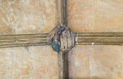Utsmyckat klostertakframstickande royaltyfri foto