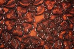utsmyckat läder royaltyfri foto