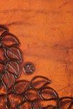 utsmyckat läder royaltyfria foton