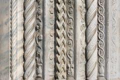 Utsmyckat snida för marmor fotografering för bildbyråer