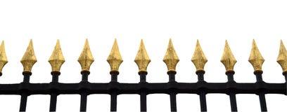Utsmyckat staket Isolation royaltyfri bild