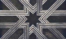 Utsmyckat stjärnasymbol royaltyfria bilder