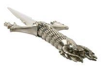 Utsmyckat svärd för stål royaltyfri fotografi