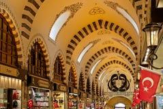 Utsmyckat tak av kryddabasaren i Istanbul royaltyfria foton