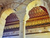 Utsmyckat tak, historisk Alcà ¡ zar de Segovia, Castile och Leon, Spanien royaltyfria bilder