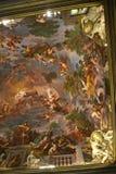 Utsmyckat tak i galleriaen Borghese Rome Ital arkivbilder