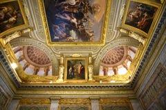 Utsmyckat tak i galleriaen Borghese Rome Ital royaltyfria bilder