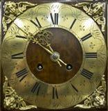 Utsmyckat tappningslut upp av klockaframsidan arkivfoto