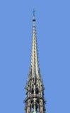 Utsmyckat torn av Notre Dame, Paris, Frankrike arkivfoto