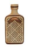 utsmyckat trä för flaska royaltyfri fotografi