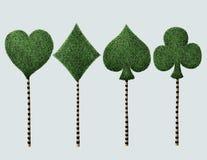 Utsmyckat träd fyra stock illustrationer