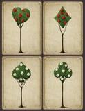 Utsmyckat träd fyra royaltyfri illustrationer
