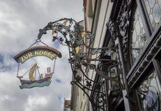 Utsmyckat underteckna in Tyskland arkivbilder