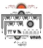 Utsmyckat vektorpaneldesign med krusidullar vektor illustrationer