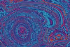 Utspädd målarfärgtextur i lilor, rosa färger och blått Arkivfoto