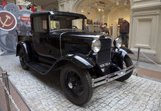 Utställning av de sovjetiska retro bilarna i Moskva Royaltyfri Bild