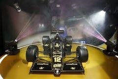 F1 lotusblomma JPS 98T, 1986 Fotografering för Bildbyråer