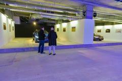 Utställning av Jaguar bilar i Kiev, Ukraina Arkivfoton