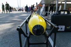 Utställning av militär teknologi Fotografering för Bildbyråer