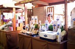 Utställning av pasta i Italien Royaltyfri Foto