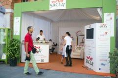 Utställning av pasta i Italien Arkivfoton