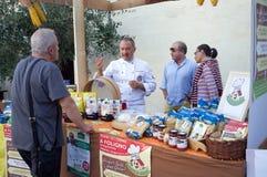 Utställning av pasta i Italien Royaltyfri Fotografi