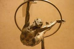 Utställning av statyCirque du Soleil konstnärer på det Bellagio Het Arkivbilder
