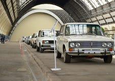 Utställning av tappningbilar Arkivbild
