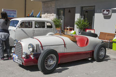 Utställning av tappningbilar i Novigrad, Kroatien Arkivbilder