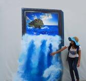 utställning för bild 3D Royaltyfria Foton