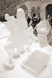 Utställning för isskulptur på den röda fyrkanten Arkivfoto