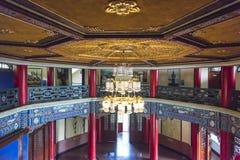 Utställning för olje- målning på det andra golvet av Sun Yat-sen Memorial Hall Arkivbilder