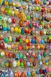 Utställning för påskägg på April 17, 2017 i Kyiv, Ukraina Arkivfoto