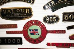 Utställning i det nationella järnväg museet i York, Yorkshire England Arkivfoto