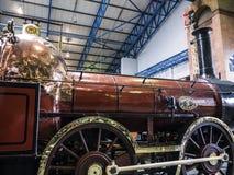 Utställning i det nationella järnväg museet i York, Yorkshire England Royaltyfria Bilder