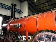 Utställning i det nationella järnväg museet i York, Yorkshire England Arkivbilder
