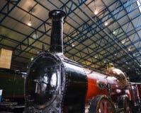 Utställning i det nationella järnväg museet i York, Yorkshire England Royaltyfri Foto
