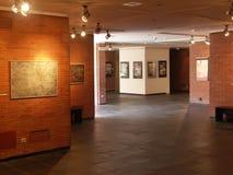 Utställning i museum Arkivbild