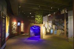 Utställning inom Tunicaflodmuseet Arkivbild
